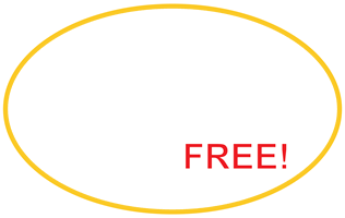 2 FREE cleans special offer badge