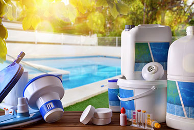 Sample of a pool services technicians equipment used to service a swimming pool