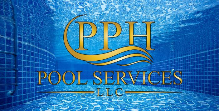 PPH Pool Services Contact Us logo in a clean pool